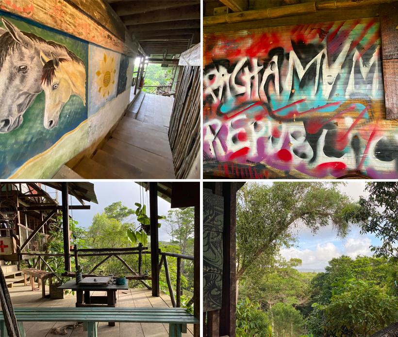 kleurrijk en gezellig terras La Republica Pachamama