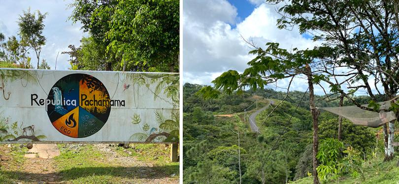 Pachamama in groene bergen San Blas