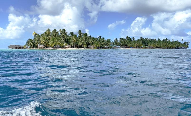 Narasgandup bibi of eiland Naranjo Chico in de San Blas
