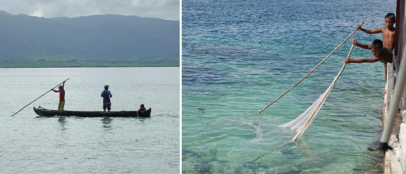 ambachtelijke visvangst in San Blas