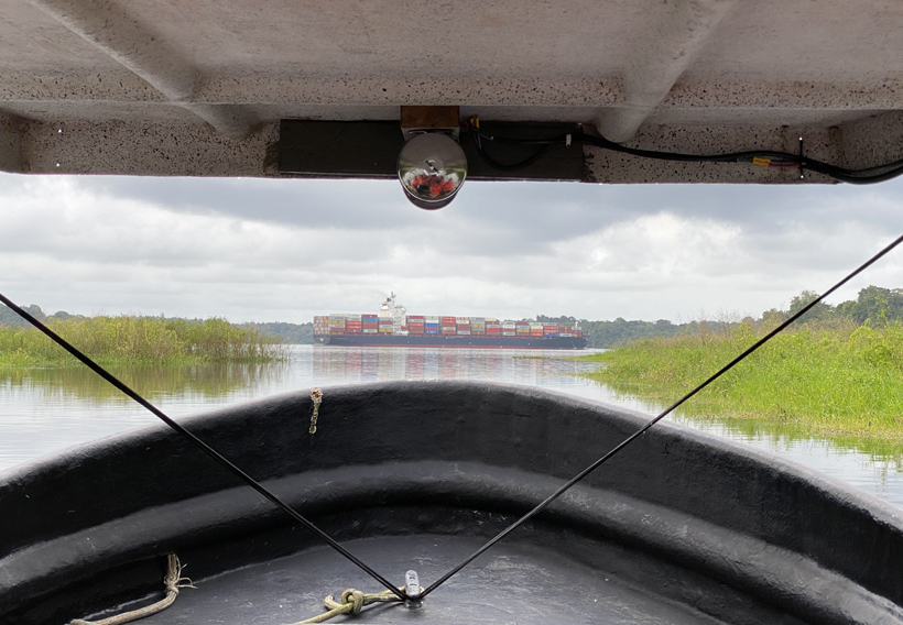 van panamakanaal naar lake gatun bij Gamboa