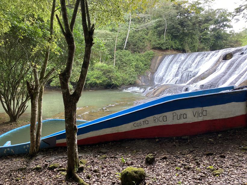 waterval van San Gabriel in Costa Rica