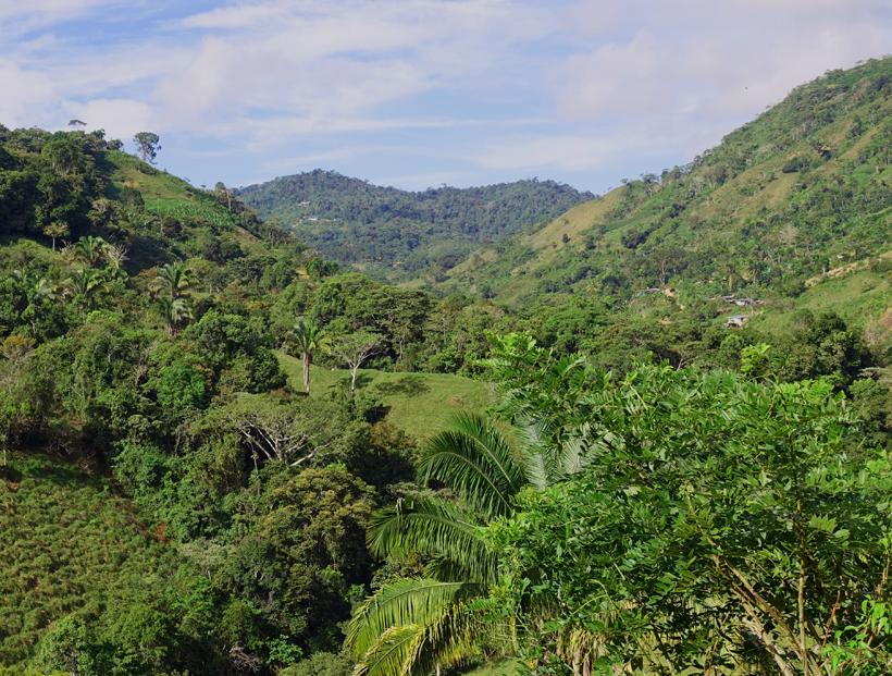 La Trinidad in groene heuvels
