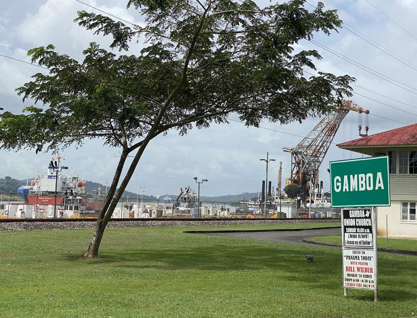 Gamboa langs het panamakanaal