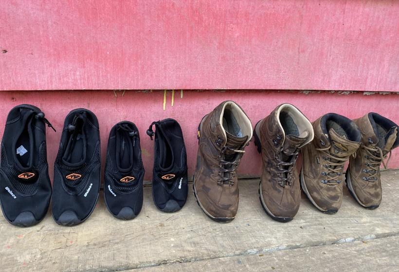 aangepast schoeisel in bagage costa rica