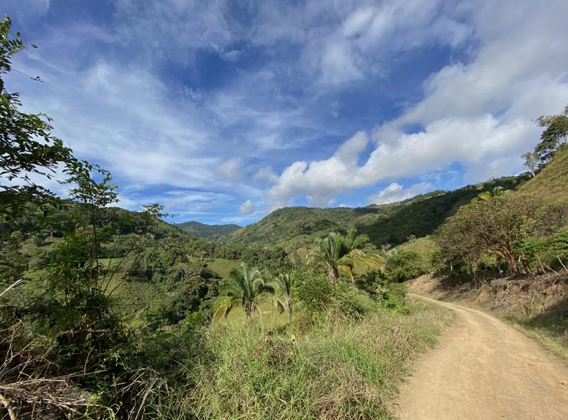 weg naar La Trinidad