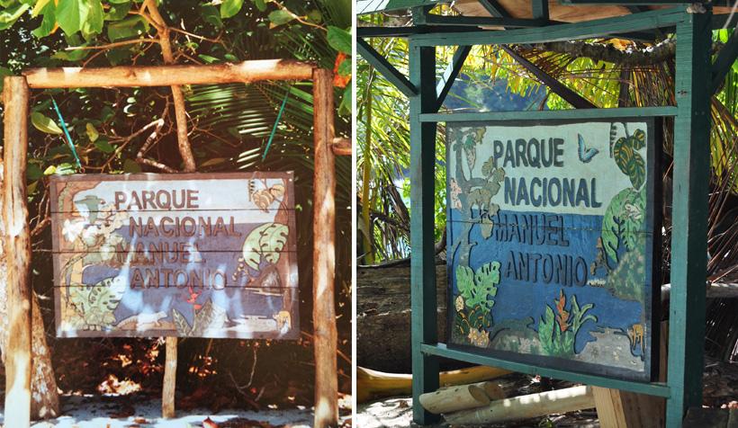 bord aan inkom manuel antonio nationaal park