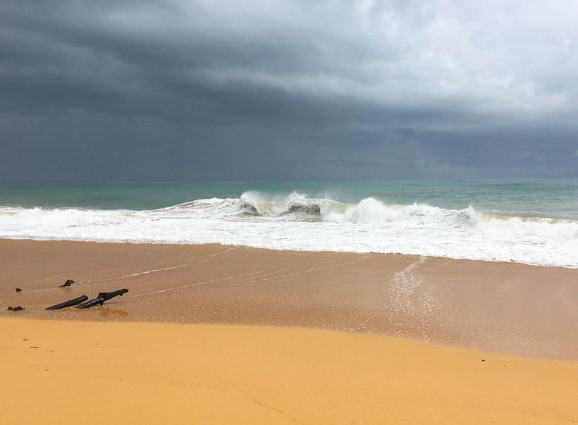onweer op bluff beach