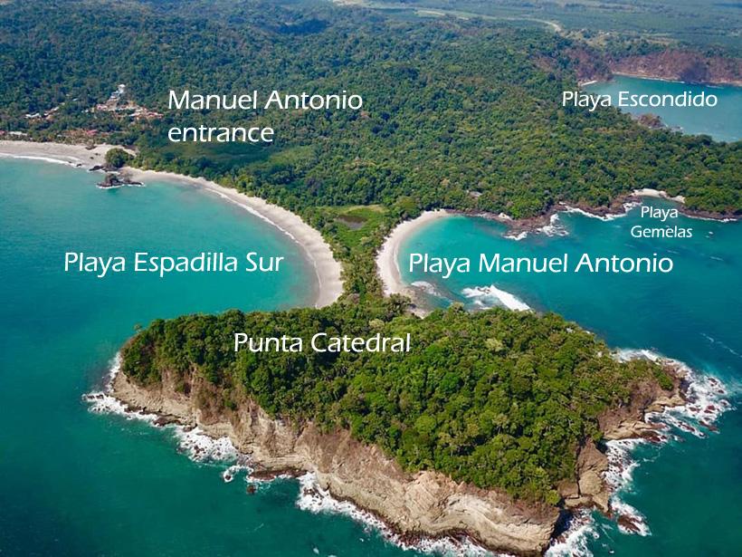 stranden in manuel antonio nationaal park