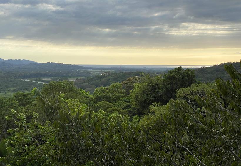 uitzicht op carara nationaal park en rio tarcoles
