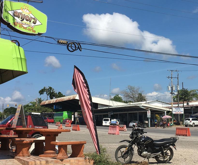 grens Paso Canoas Costa Rica en Panama
