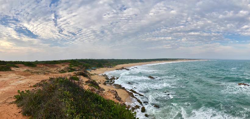 kust in Bundala Nationaal Park