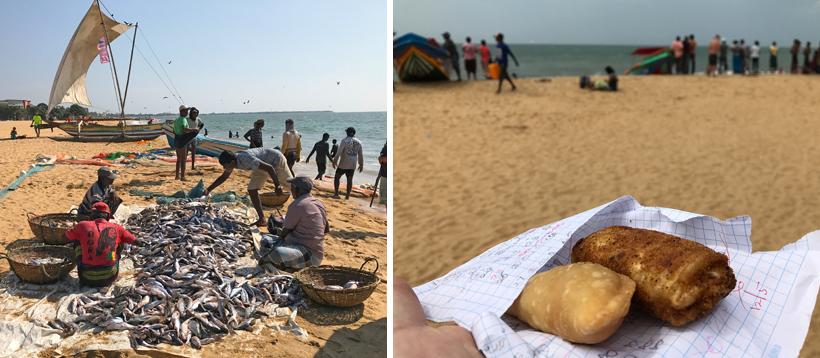 snacks op strand Negombo