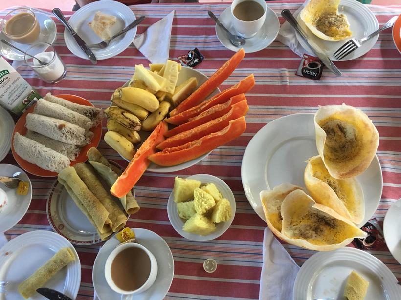 ontbijt in Dambulla Sri Lanka