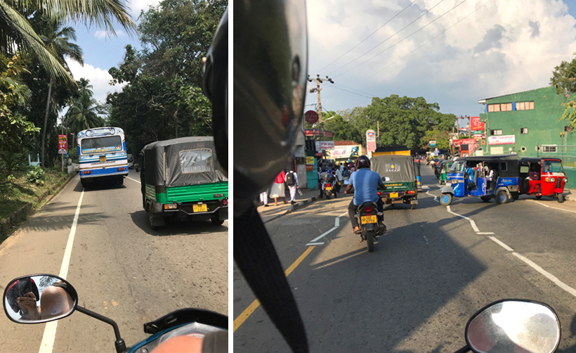 met scooter in Tangalle
