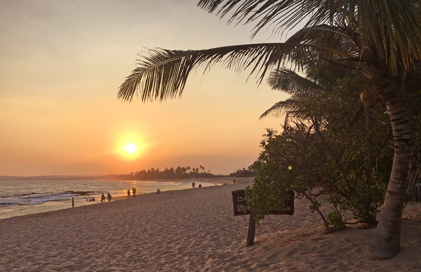 zonsondergang Tangalle Beach