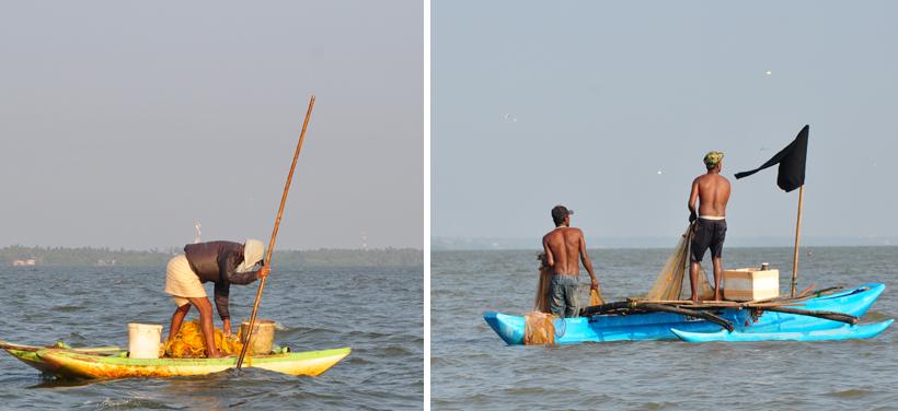 vissers op Negombo Lagoon