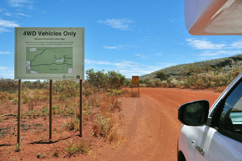 4x4 weg in Karijini Nationaal Park