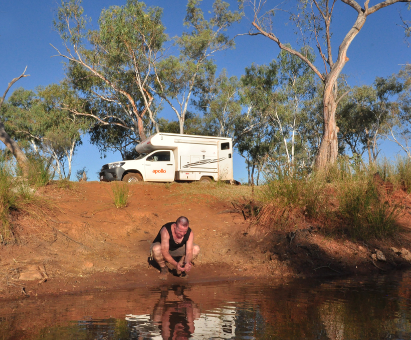 afspoelen outback stof
