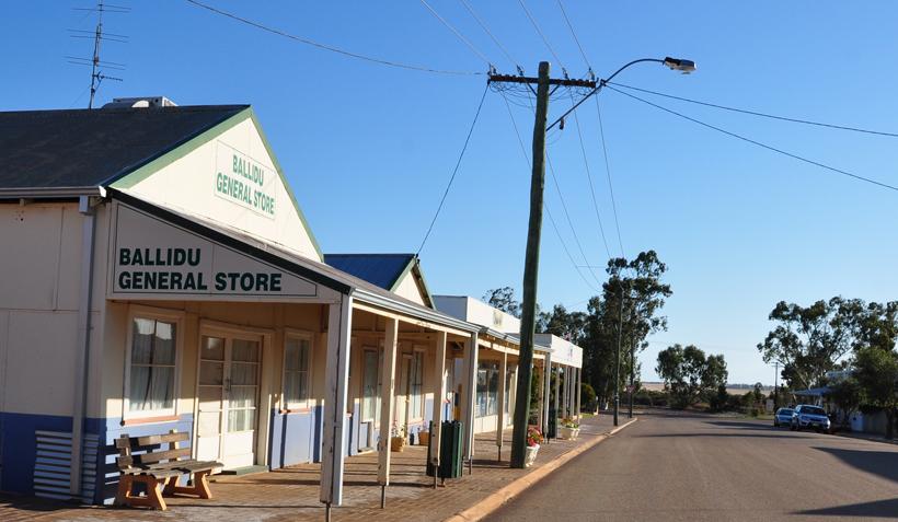Ballidu dorp in western australia