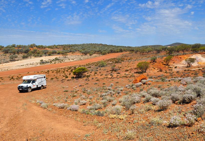 4x4 camper in golden outback