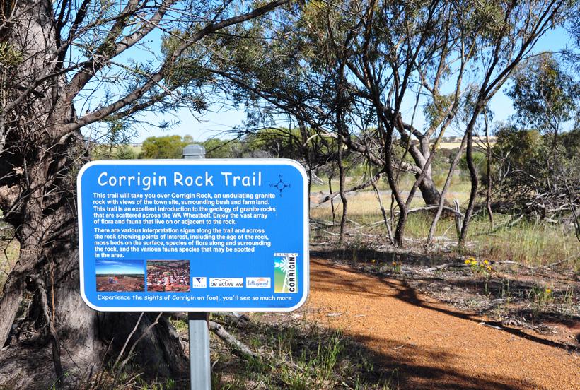 wandelen in Corrigin in western australia