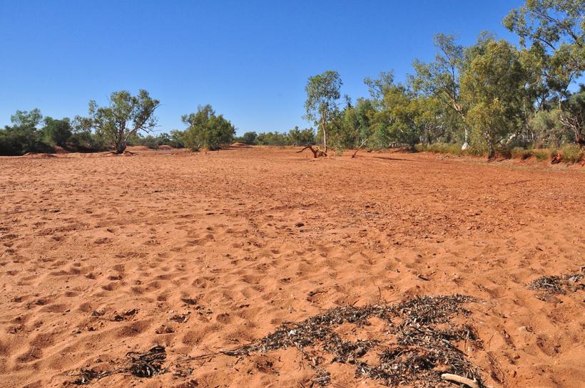 droge rivierbedding emu creek
