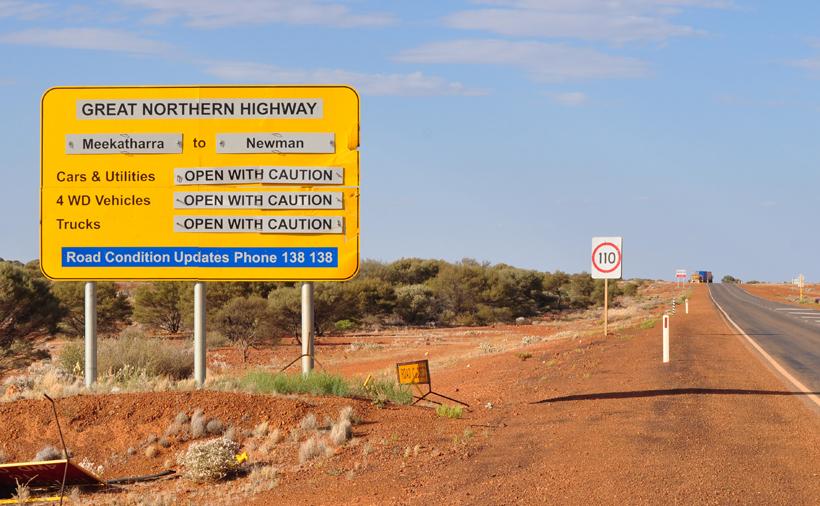 wegcondities great northern highway