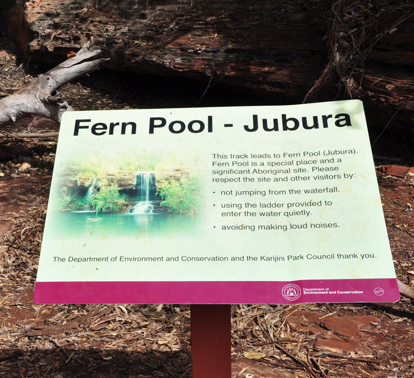 waterpoel in karijini nationaal park