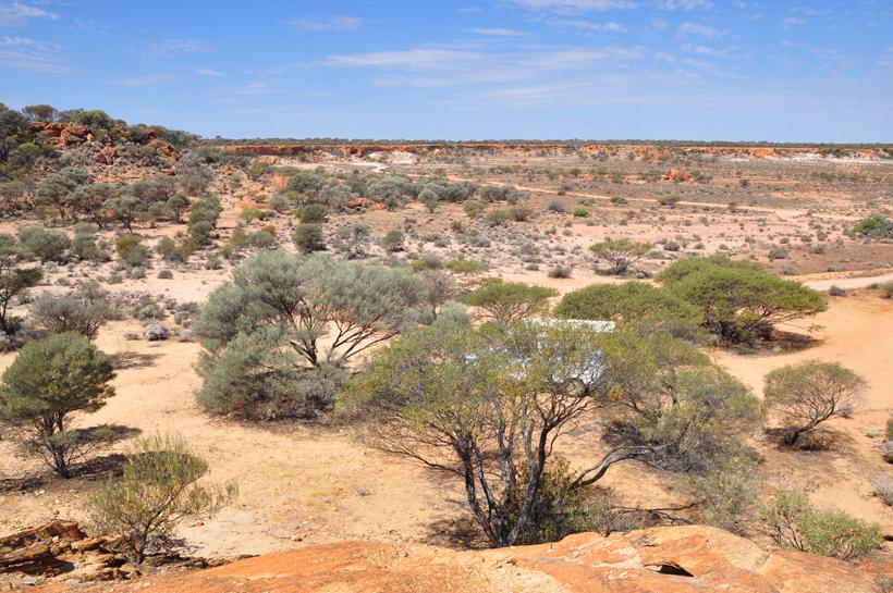 landschap golden outback mount magnet