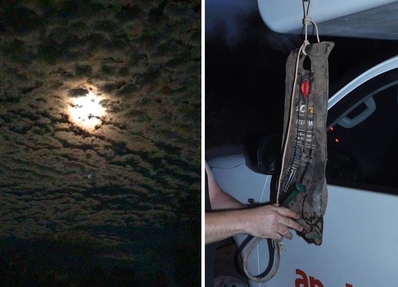 nacht en outdoor shower in karijini nationaal park