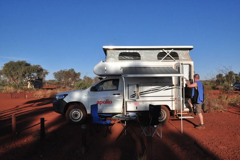 ochtendzon camping Dales in Karijini Nationaal park