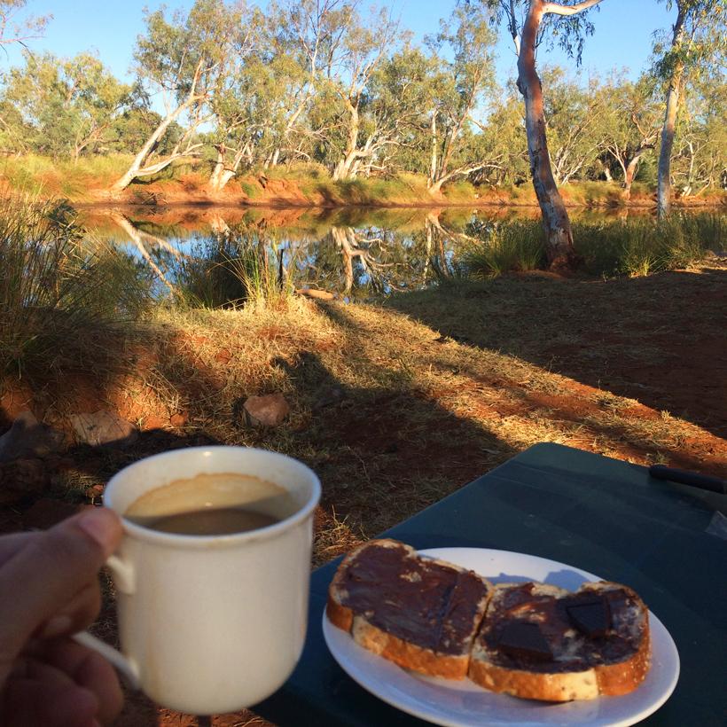 ontbijt in emu creek