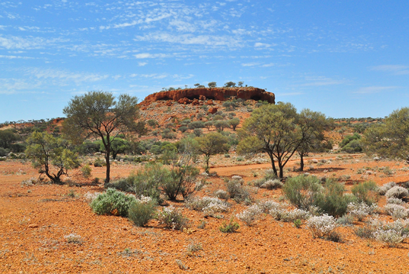 rotsformaties in golden outback