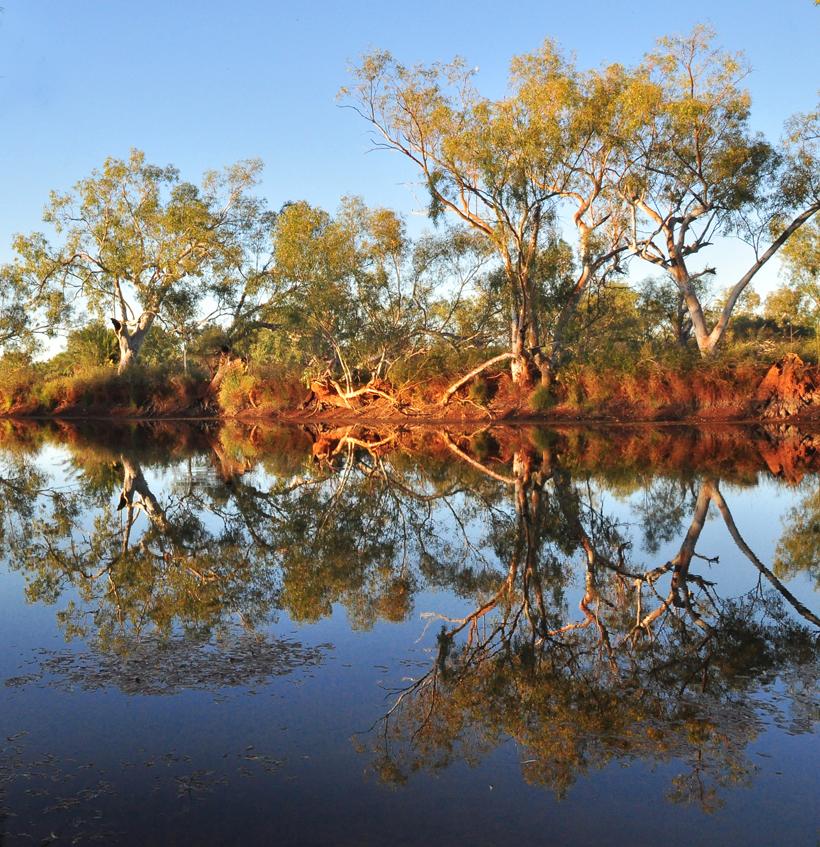 rivier reflectie western australia