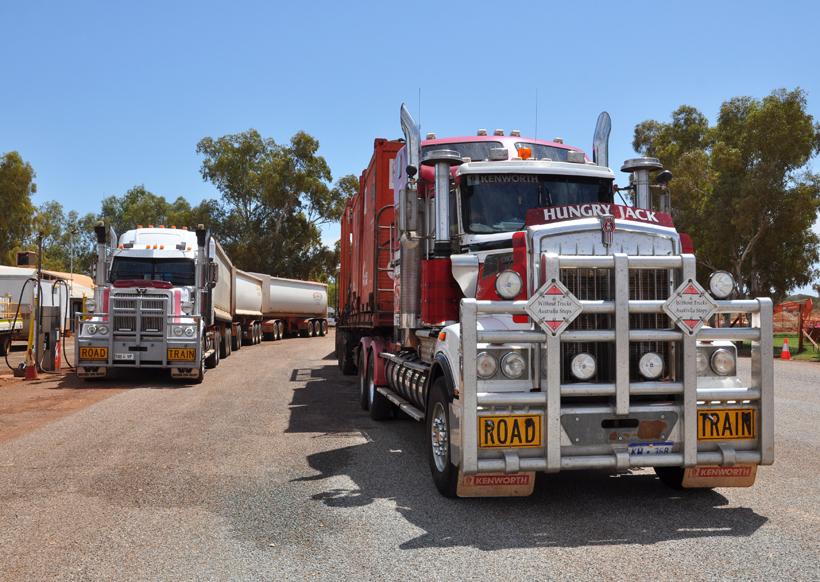 zware trucks in golden outback