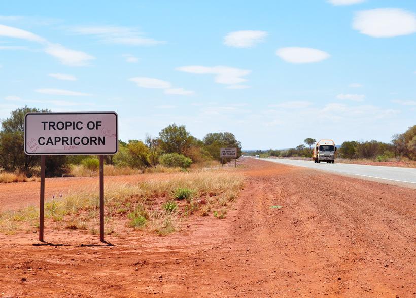 steenbokskeerkring in golden outback