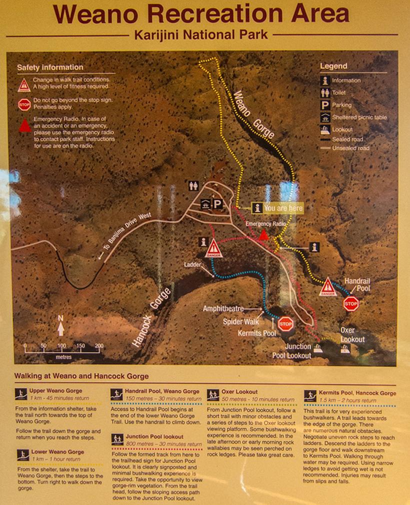 wandelroutes aan Weano Recreation Area