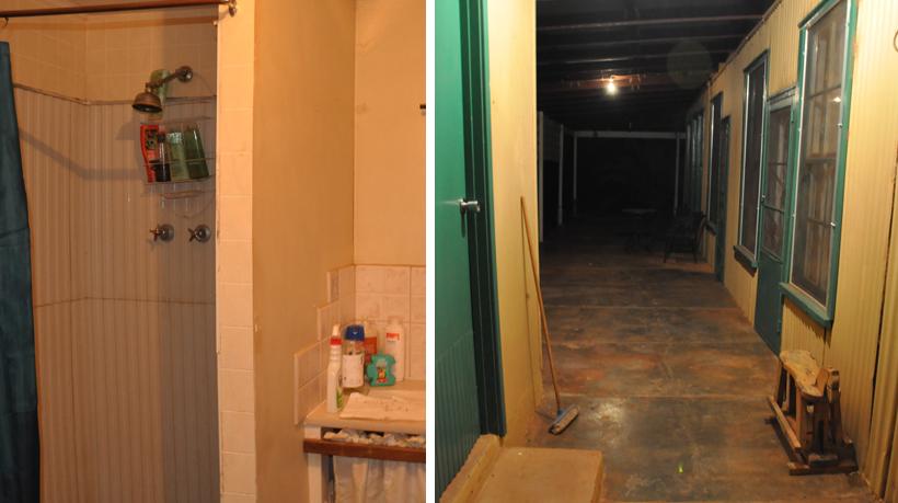 werkers cabins en badkamer emu creek