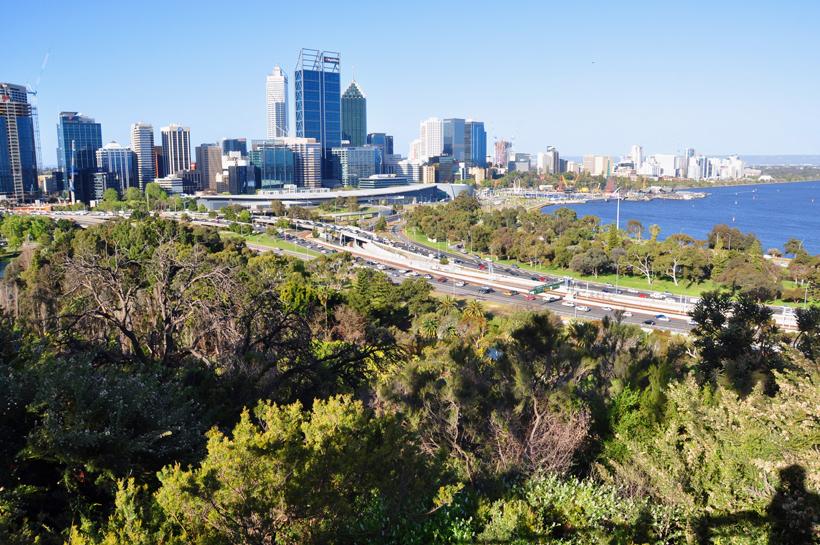 zicht op Perth