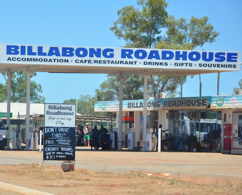 billabong roadhouse westkust Australië