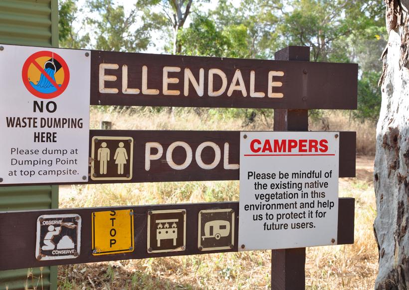 kamperen aan Ellendale Pool