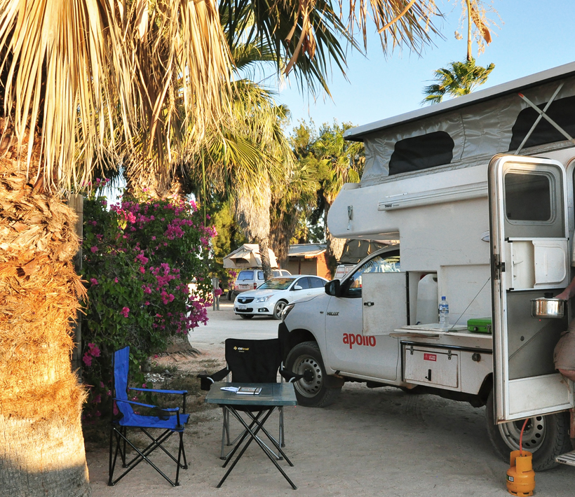 camping spot monkey mia