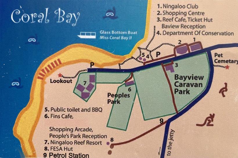 stratenplan Coral Bay