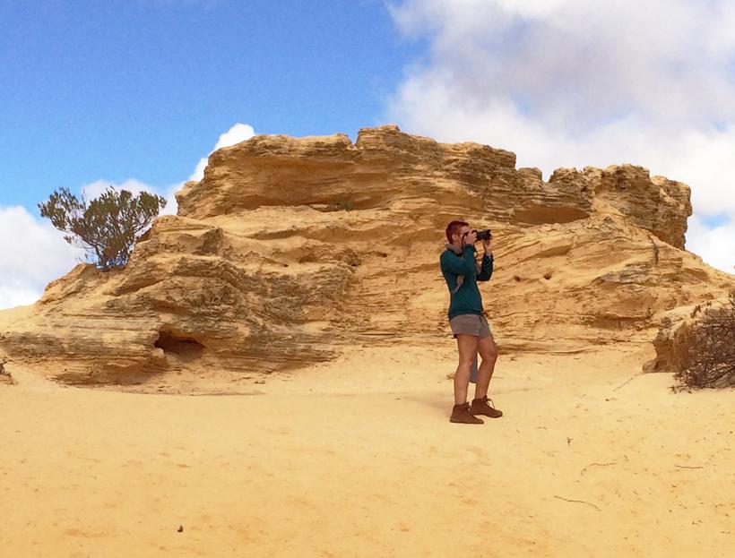 gele woestijn pinnacles westkust van Australië
