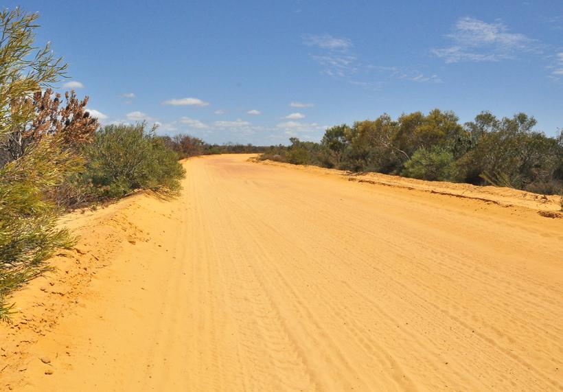 weg naar Kalbarri Nationaal Park