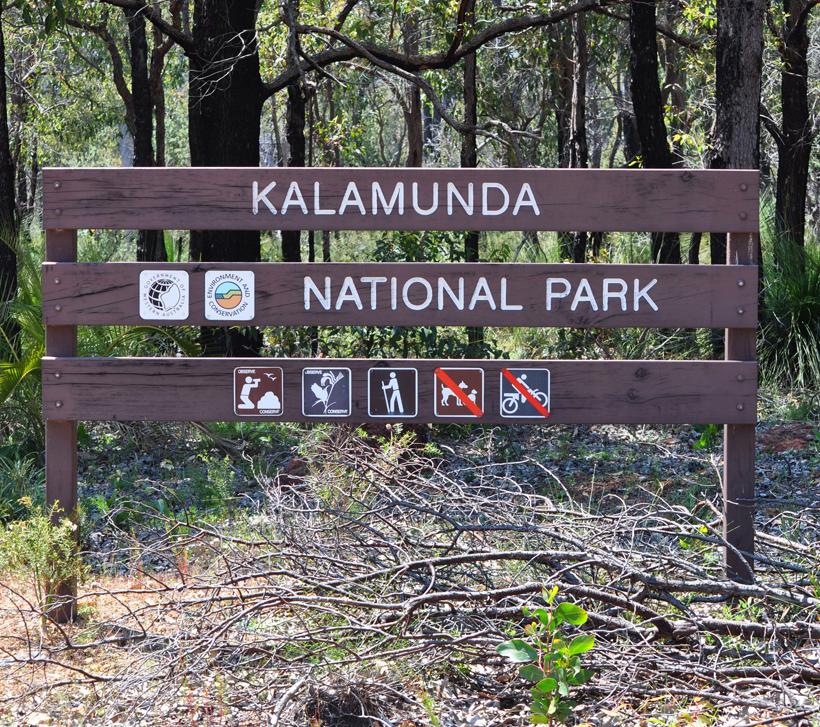 Kalamunda nationaal park in perth hills