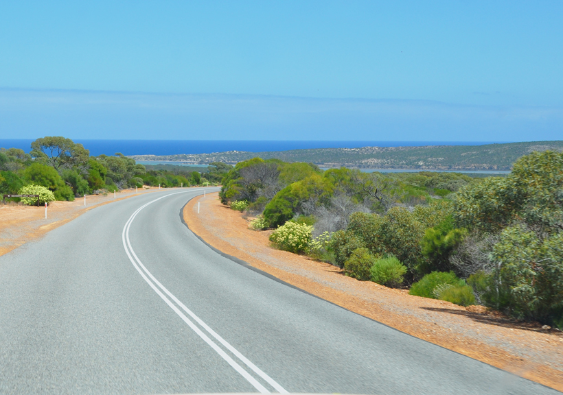 weg naar cervantes westkust van Australië