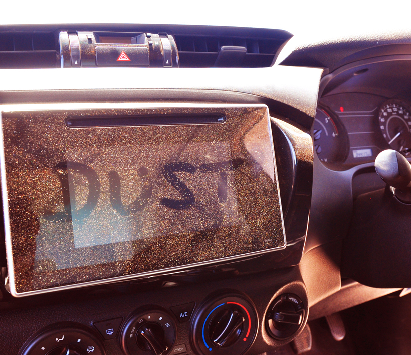 outback stof in auto westkust van Australië