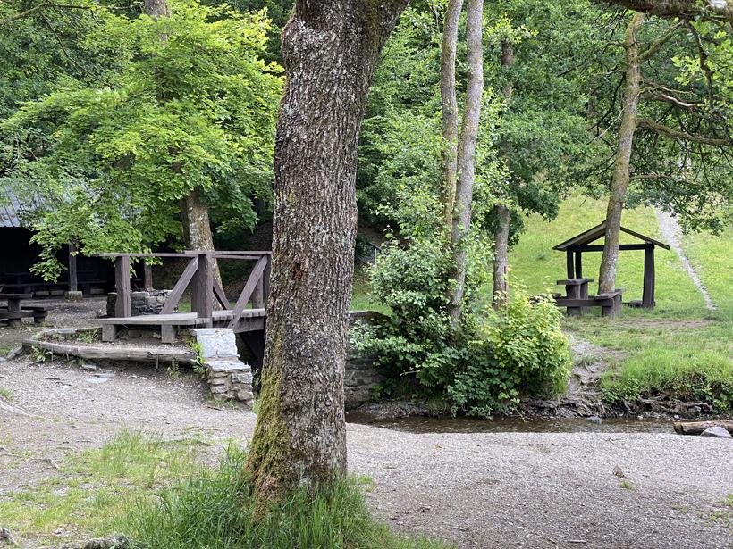 picknickplek in Herbeumont naast Semois